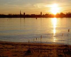 Harriersand-Sonnenuntergang